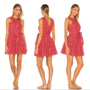 Ulla Johnson Arisa Tie Dress Hibiscus Mini Dress